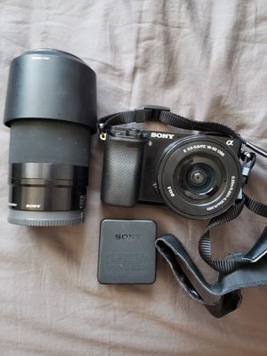 SONY A6000 CAMERA W LENSE 4.5-6.3 for Sale in Moreno Valley, CA