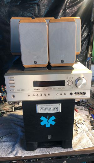 Onkyo surround sub Yamaha speakers focal sib control remote $250 for Sale in Richmond, CA