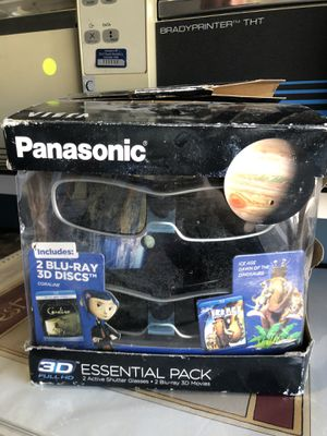 New 3D Movie Glasses With 2 Blu-Ray Movies for Sale in Gilroy, CA