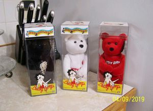 Three new with tags collectible Betty Boop Ty Beanie Babies for Sale for sale  Lawndale, CA