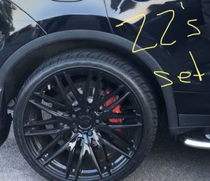 """22"""" Inch Rims and Tire for Sale in Dedham, MA"""