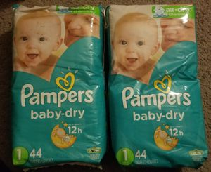 Pampers Diapers - Size 1 Unopened (88 total count) for Sale in San Diego, CA