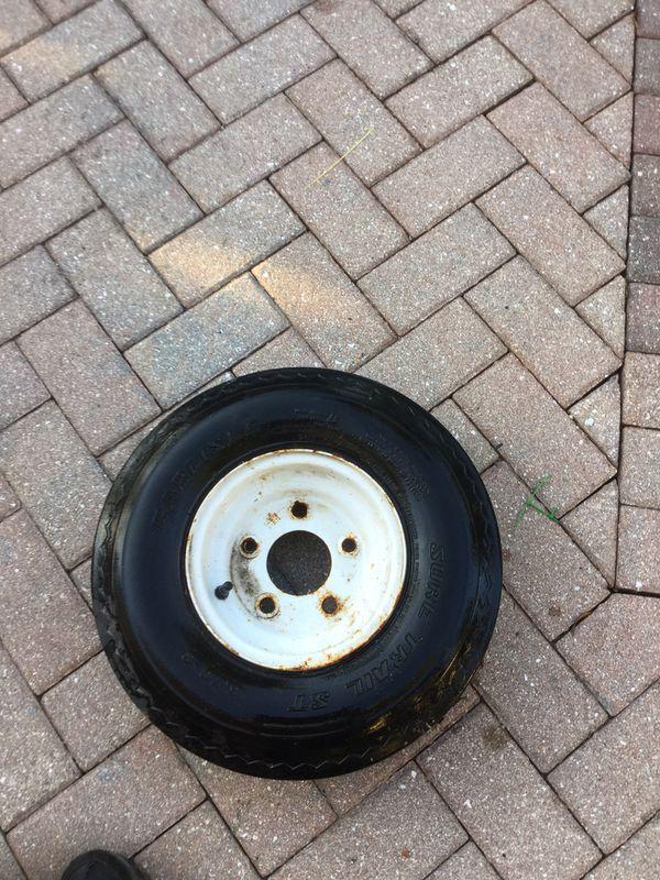 Trailer tire with rim