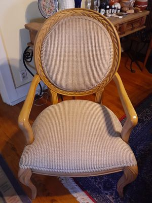 Large French style wooden Accent Arm chair clean!! for Sale in San Diego, CA