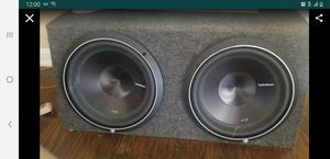 """2 12"""" Rockford fosgate p3s with box subs for Sale in Valley View, OH"""