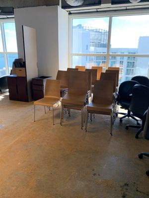 Light Cherry Stacking chair L@@K low price Reception Guest Dining for Sale in Hollywood, FL