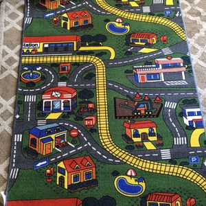 Race car & alphabet area rug 8x10 new with 2 side print side for Sale in La Mesa, CA