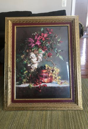 Gold flower baby picture for Sale in Lorton, VA