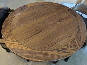 Wood circle kitchen table w/2 chairs for Sale in North Bethesda, MD
