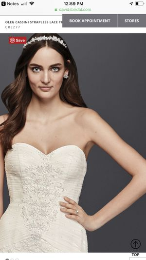 Wedding dress size 6 no aterations clean 150 for Sale in St. Peters, MO