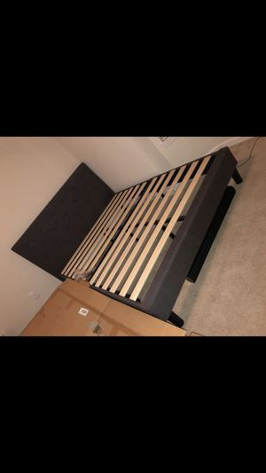 New queen dark grey bed frame for Sale in Smiths Station, AL
