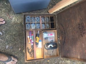 Fishing tackle box made out of wood for Sale in Upland, CA