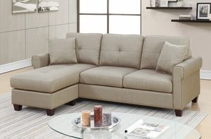 Brand New Beige Linen Sectional Sofa Couch for Sale in Silver Spring, MD