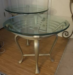 2 Nice Glass End Tables for Sale in Garner, NC