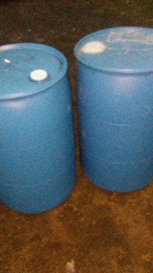 55 GALLON PLASTIC BARRELS FOR SALE $20 for Sale in Detroit, MI