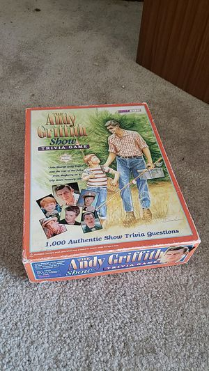 ANDY GRIFFITH SHOW trivia board game for Sale in Redlands, CA