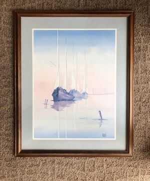 Framed sailboat art for Sale in Traverse City, MI