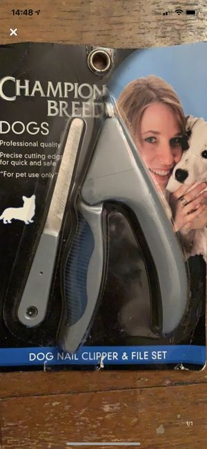 Dog nail clippers and file set for Sale in Binghamton, NY