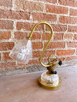Antique Ornate Cut Glass/Brass Table Desk Lamp for Sale in Scottsdale, AZ