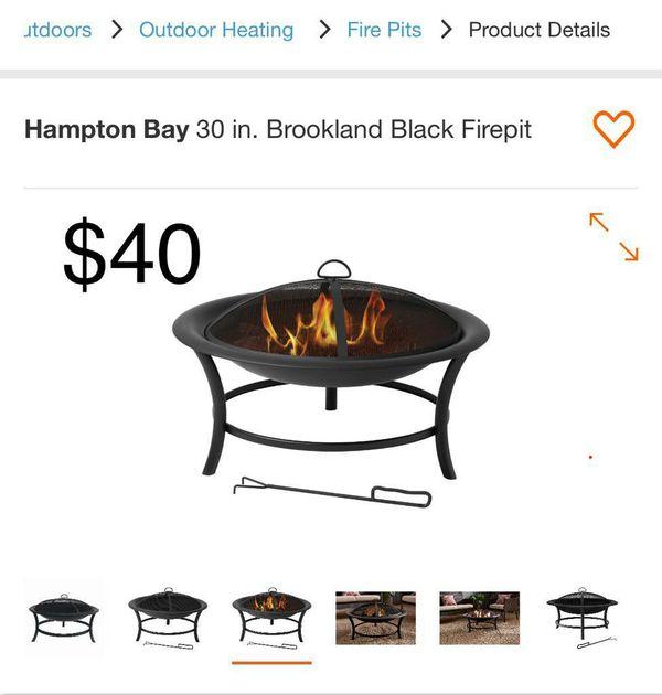Hampton 30in. Brookland black firepit