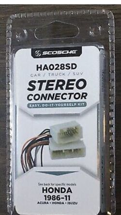 Honda Car Stereo Connector Kit for Sale in Chicago,  IL