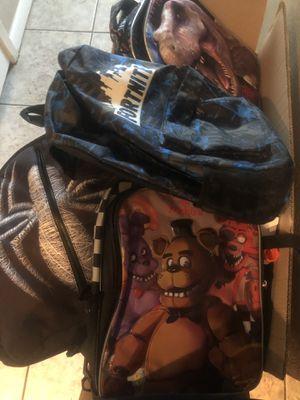 Backpacks, lunchboxes, zipper binder for Sale in Arlington, TX