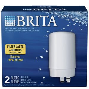 Brita 36311 Basic On Tap Faucet Water System Replacement Filters, 2ct, White, 2 Count for Sale in Orlando, FL
