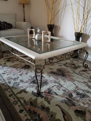 Large coffee table and matching end table for Sale in Melbourne, FL