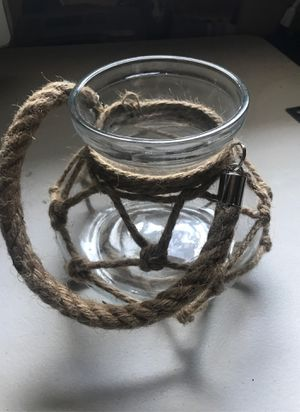 Glass and rope plant holder for Sale in San Diego, CA