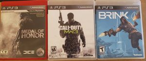 3 game set for your PS3! for Sale in Arlington, TX