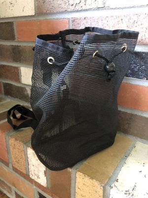 NEW Black Mesh BackPack Purse - perfect for the beach or pool! :) for Sale in Valencia, CA