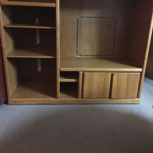 Great Wood TV Stand & Book Shelf for Sale in Chelsea, MA