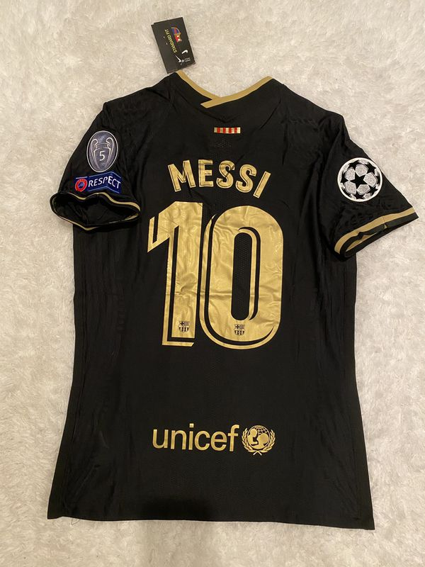 20-21 Barcelona blk player version Messi
