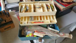 Fishing tackle box with tackle for Sale in Stafford Township, NJ