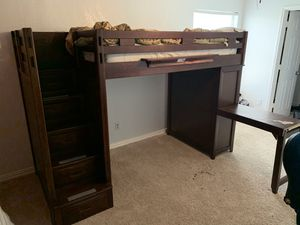 Ivy League Twin Step Loft Bunk Bed with Chest and Desk for Sale in Arlington, TX