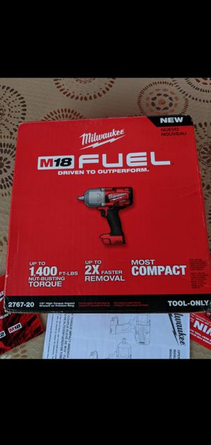 MILWAUKEE M18 FUEL 18-VOLT LITHIUM ION BRUSHLESS CORDLESS 1/2 IN HIGH TORQUE IMPACT WRENCH (TOOL ONLY) for Sale in San Bernardino, CA