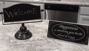 Chalkboard sign and happiness sign for Sale in Columbia, MO