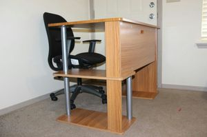 Ultra strong computer table with height adjustable chair for Sale in Bentonville, AR