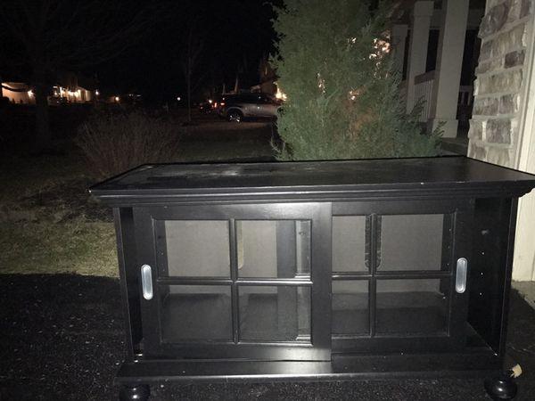 Black entertainment cabinet