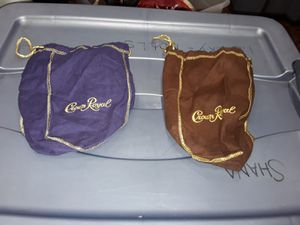 2 crown royal bags for Sale in San Diego, CA