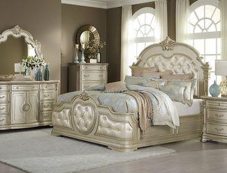 SPECIAL] Antoinetta Champagne Panel Bedroom Set by Homelegance for Sale in Arlington,  VA