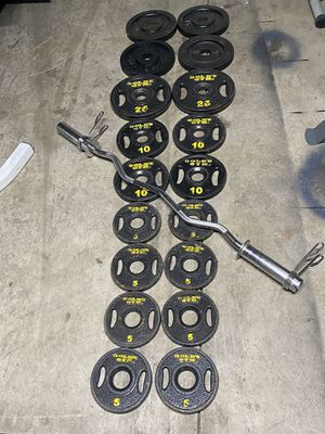 Weights with EZ bar for Sale in Columbus, OH