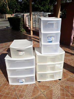 Plastic organizers drawers for Sale in Irwindale, CA