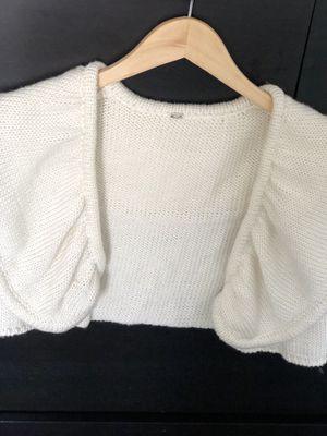 Cream Shawl with arm holes | Brand Elizabeth Gillett NYC for Sale in Kent, WA