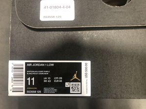 Jordan 1 low black/purple for Sale in Lakewood, WA