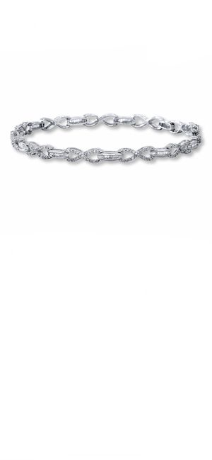 10k white gold diamond infinity bracelet for Sale in Woonsocket, RI