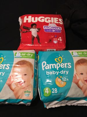 Size 4 diapers yes all for Sale in Riverside, CA