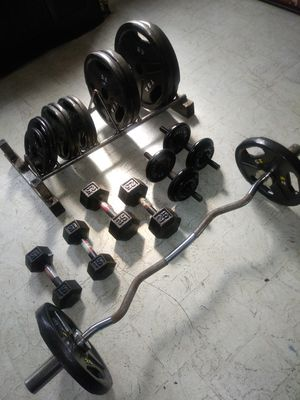 Olympic weight set!! for Sale in Philadelphia, PA