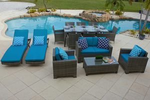 Nico 15 Piece Combination Outdoor Furniture Set for Sale in Miami, FL