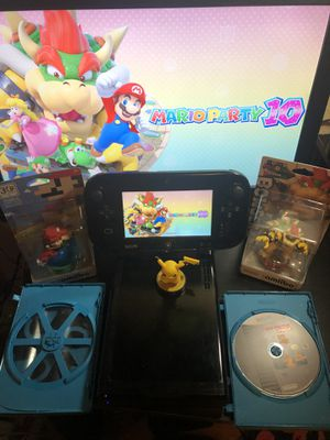 Nintendo Wii U W/ 2 games and 1 amibo $140 Other Games sold separately. for Sale in Corpus Christi, TX